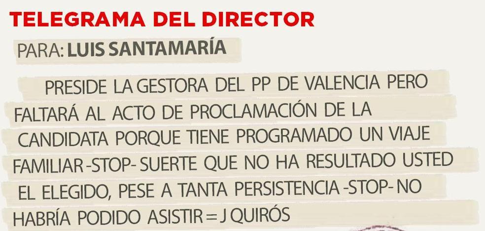 Telegrama para Luis santamaría