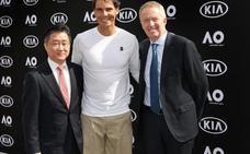 Rafa Nadal, con Kia en el Open Australia