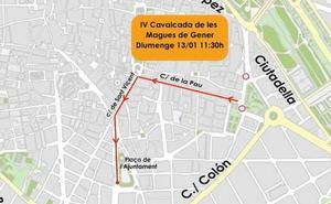 Cortes de tráfico en Valencia por la cabalgata de las reinas magas 2019