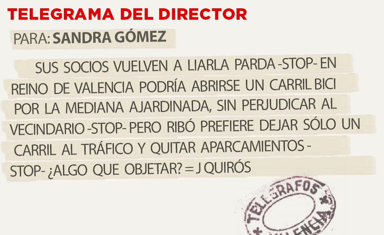 Telegrama para Sandra Gómez
