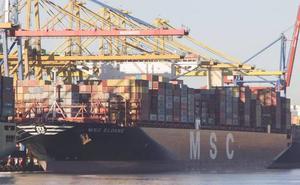 El mayor buque de MSC atraca en el Puerto de Valencia