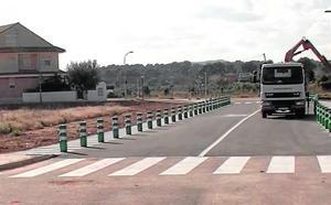 Nuevo acceso a la población desde la carretera de La Pobla