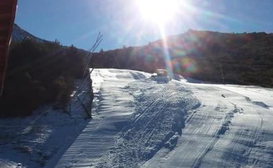 El frio permite la apertura de La Pinilla