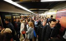 Más de 30 minutos de retrasos a primera hora de la mañana por la huelga de Metrovalencia