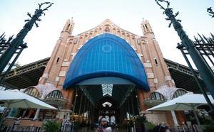 Daños en la vidriera del Mercado de Colón obligan a proteger la fachada