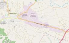 Un herido grave en un accidente entre dos camiones y un turismo en Onda