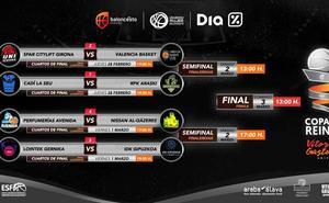 El Valencia Basket se cruzará con el Spar Girona en la Copa de la Reina