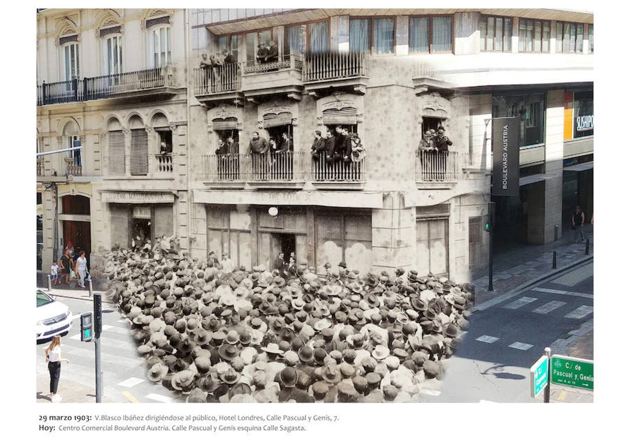 Blasco Ibáñez se pasea por la Valencia del siglo XXI