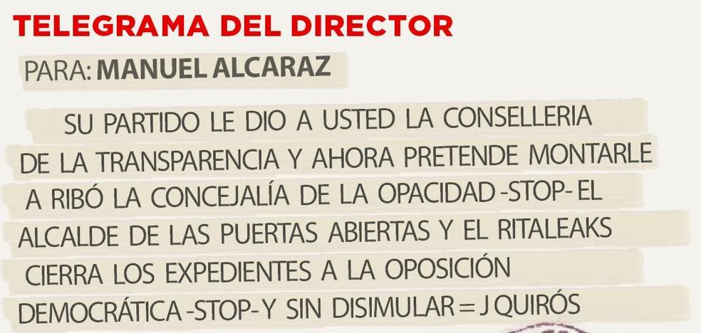 Telegrama para Manuel Alcaraz