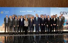 El rey Felipe VI preside el aniversario de la patronal autonómica valenciana CEV