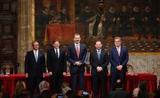 Felipe VI recibe el Premio Convivencia de la Fundación Manuel Broseta