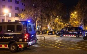 Nueve detenidos por desórdenes y daños en las protestas del taxi en Barcelona
