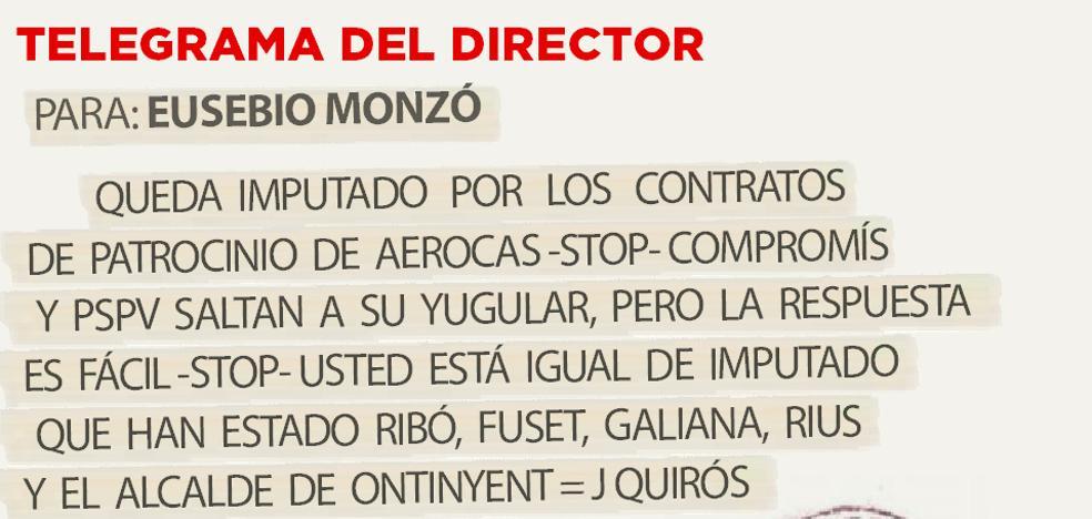Telegrama para Eusebio Monzó