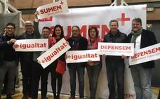Carmen Montón reaparece en el mitin de Pedro Sánchez en Valencia