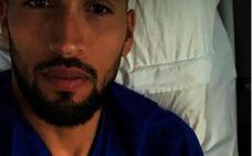 Garay pasa la noche en el hospital