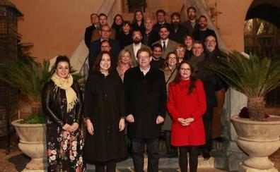 Recepción institucional del Consell en el Palau Ducal de Gandia