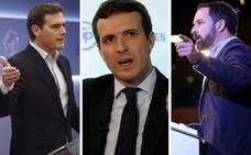 PP, Ciudadanos y Vox llaman a la movilización este domingo contra la «alta traición» de Sánchez