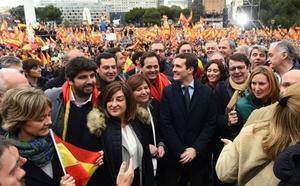 Los políticos valencianos, presentes en la manifestación de Madrid