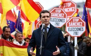 Casado certifica «el fin» de Sánchez y Rivera presiona con otra manifestación en Barcelona