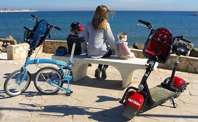 La primera silla portabebé del mundo para patinete eléctrico y bicicleta plegable homologada es valenciana