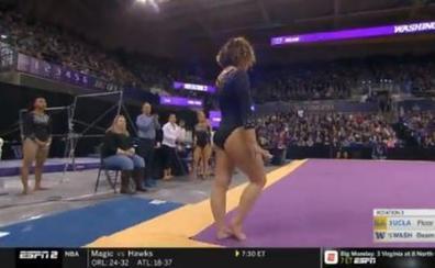 Otro '10' para Katelyn Ohashi, la estrella de UCLA