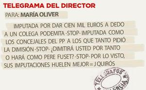 Telegrama para María Oliver