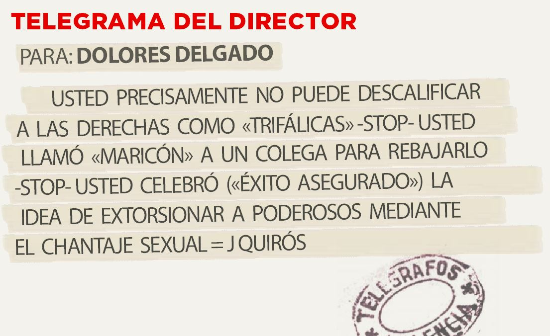 Telegrama para Dolores Delgado