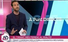 Un presentador de À Punt atribuye a Ausiàs March la autoría del 'Tirant Lo Blanc'
