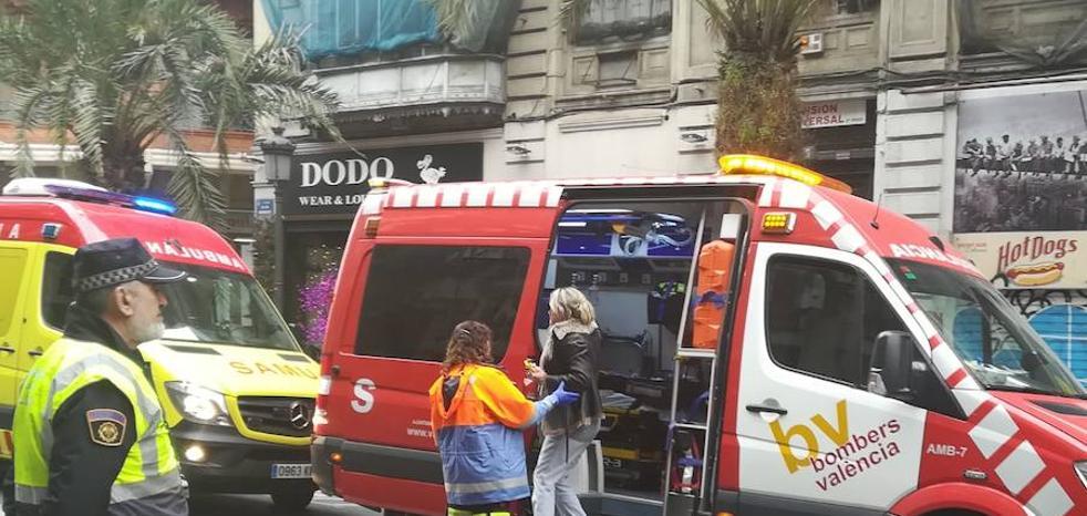Una obra sin licencia causa el derrumbe de un piso en el centro de Valencia