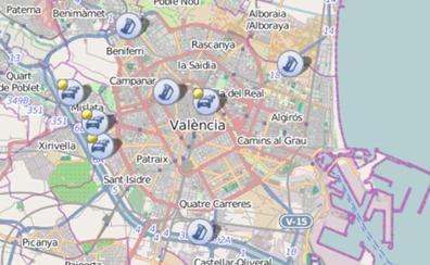 Atascos en el centro y en dos accesos a Valencia