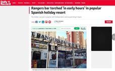 Radicales del Celtic queman un bar de Benidorm camino de Valencia