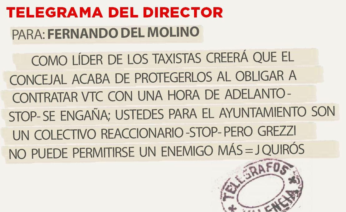 Telegrama para Fernando del Molino