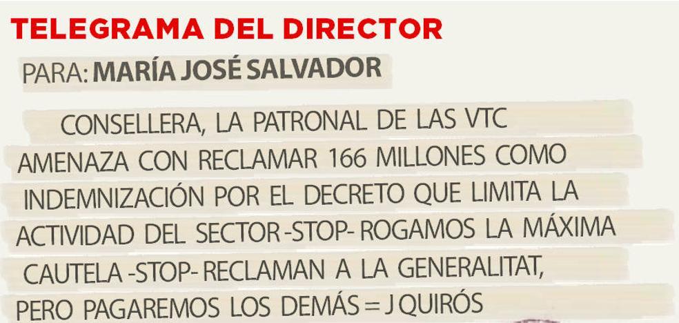 Telegrama para María José Salvador