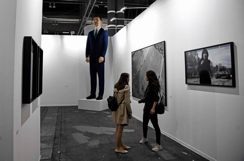 Polémico ninot del Rey Felipe VI en la Feria Arco de Madrid 2019