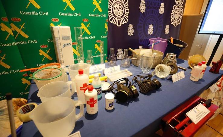 Desmantelado un laboratorio subterráneo de cocaína en Llombai tras la detención de siete personas