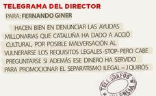 Telegrama para Fernando Giner