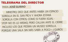 Telegrama para José Guirao