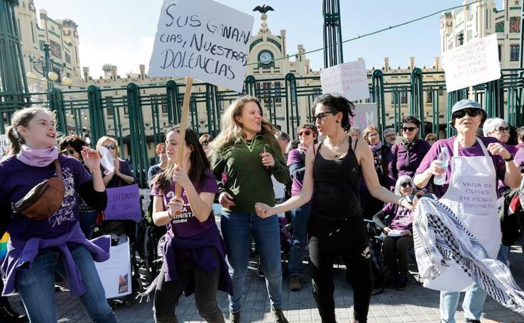 Huelga del Día Internacional de la Mujer 8-M de 2019 en la Comunitat Valenciana