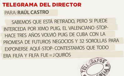 Telegrama para Raúl Castro