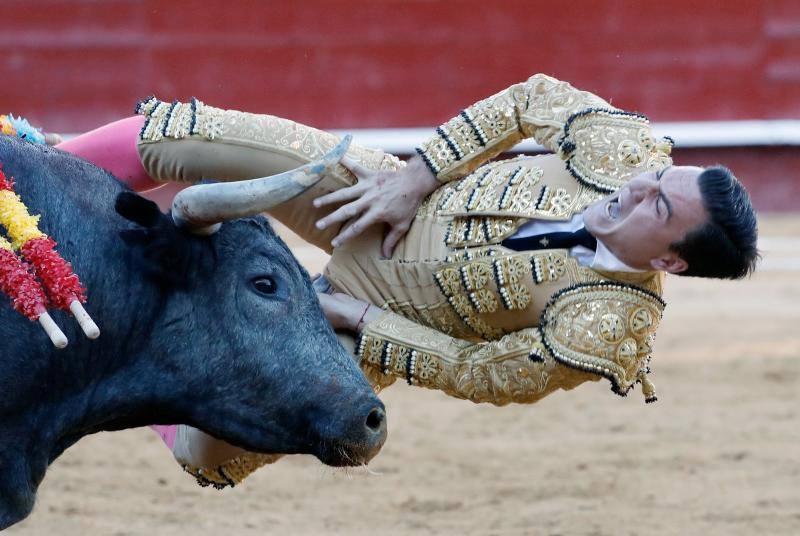 La escalofriante cogida del toro a Octavio Chacón en la Feria de Fallas de Valencia 2019