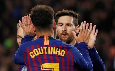Coutinho fue titular, marcó y lesionó al meta Lopes