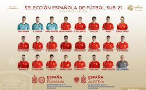 Reguilón y Aleñá, entre las grandes novedades en la selección sub-21