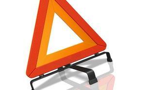 Así se colocan los triángulos de emergencia