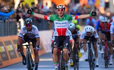 Viviani le arrebata la tercera etapa a Sagan