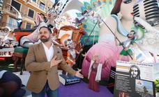 Fotos de Santiago Abascal durante su visita a Valencia en Fallas
