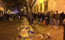 Botellón en Valencia en los días de Fallas 2019