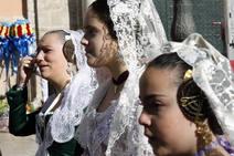 Fallas 2019: Segundo día de la Ofrenda a la Virgen de los Desamparados