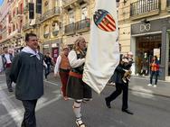 Fotos de la ofrenda del Valencia CF a la Virgen en las Fallas 2019