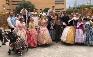 La falla Puebla Valverde visita la redacción de LAS PROVINCIAS
