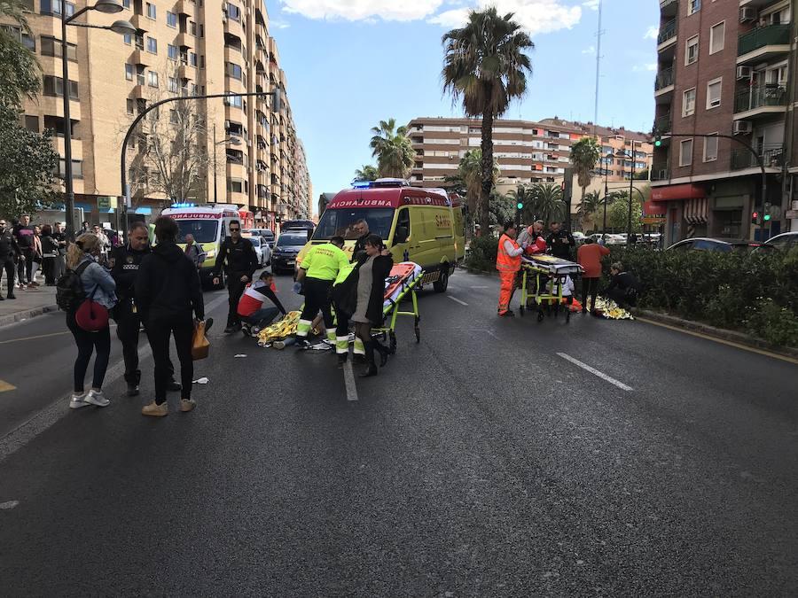 Atropello múltiple en Valencia tras saltarse un semáforo